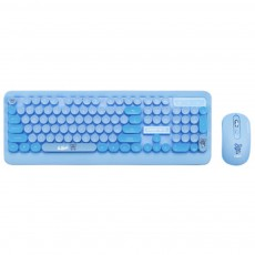 Wireless Keyboard Mouse Kit Waterproof Keyboard and Mute Mouse Compatible for Windows Tablet Computer MAC IOS Android and More