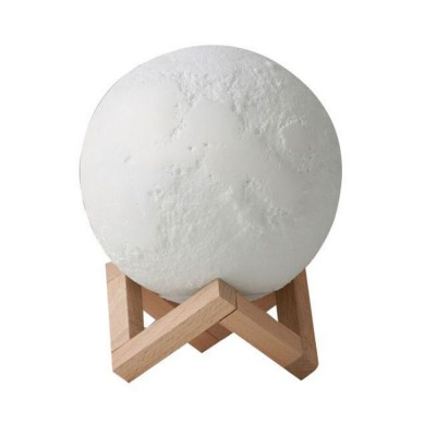 Three-dimensional Printing Moon Light for Living Room Hotel Lobby Green and Nontoxic Night Lamp Touch Control Light