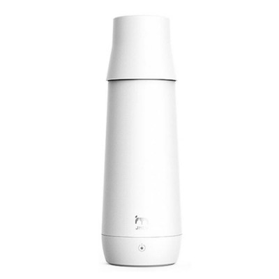 Portable Thermostatic Electric Water Cup 300ML Mini Folding Vacuum Cup for Dormitory Travel Home Use Warm Electric Kettle