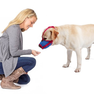 Dog Bark-stop Mask Waterproof Nylon Mouth Cover Muzzles, Pet Grooming Tools for Preventing Scratches and Biting Chewing