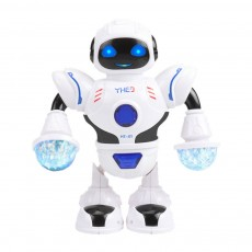 Space Dance Robot for Kids' Gift With LED Light Dancing Robot Kids' Electronic Toy Battery-operated Dance Robot
