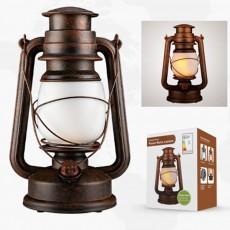Stylish Vintage Simulation Fame Kerosene Lamp LED Outdoors Champing Tent Illuminating Light Lantern Decoration Ornament