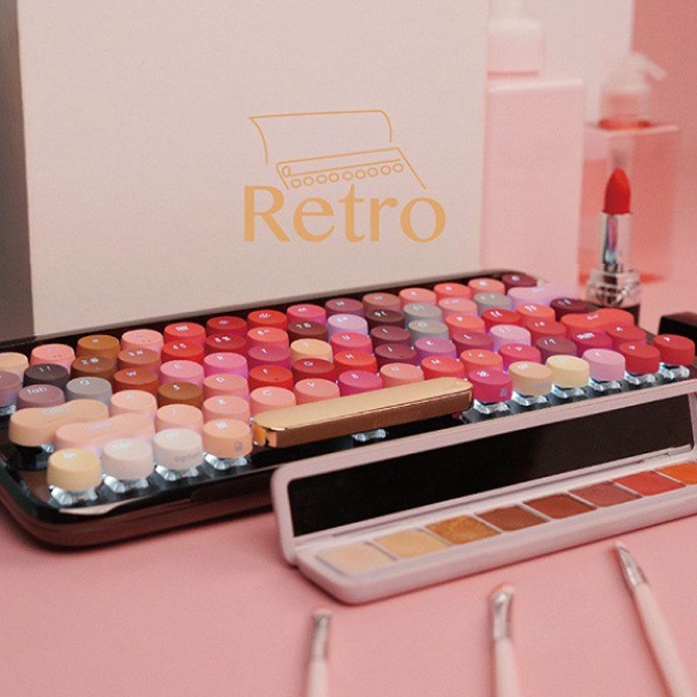 LOFREE Fashion Design Lipstick Colorful Dot Wireless Keyboard Cute Wireless Bluetooth Mechanical Keyboard