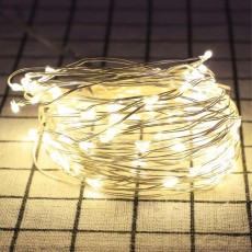 12M 22M LED String Lights Warm White Waterproof Decorative Fairy String Lights Perfect for Indoor Courtyard Outdoor Use Solar Energy 100 LED Copper String Lights