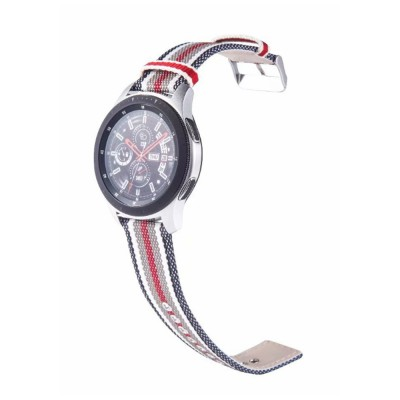 Durable Replacement Watch Band for Samsung Gear S3 Frontier /S3 Classic /Galaxy Watch 46 /Galaxy Watch 42 Different Colors Smart Stripe Nylon Watch Wrist Strap
