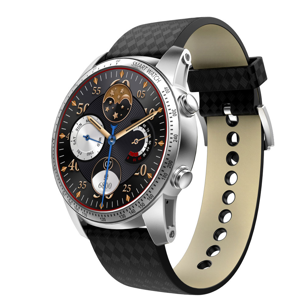 Business KW99 PRO Men Wrist Watch Android 7.0 Smart Fitness Tracker Phone Watch with Leather Band Classic Round Dial 1G 16G