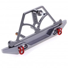 Aluminum Front And Rear Bumper Bull Bar Spare Tire Carrier For 1:10 Axial Scx10 Jeep Climbing Car Wrangler 90046 90047