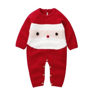 Children's Cartoon Knitwear Christmas New Year Style Bodysuit Children's Knitting Bodysuit