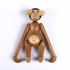 Creative Wooden Crafts Monkey Modeling Ornament Puppet Monkey Rotatable Head Limbs Nordic Denmark Teak Gift Ornament