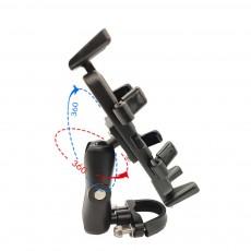 Motorcycle Phone Mount Black Handlebar Phone Holder Anti-Shake and 360°Rotatable Bike Phone Holder