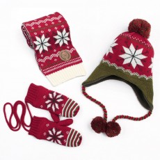 New Children's Hat Warm and Plush Hat for Boys and Girls Snow Flake Decorated Christmas Style Autumn Winter Hat