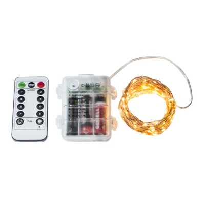 Waterproof 8 Modes LED String Lamp 3 AA Battery Powered Light String with Remote Control Timing Function for Christmas Decoration