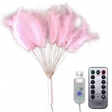 Feather String Light Battery Powered Firework Lamp String with Eight Flashing Function for Home Party Decoration