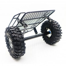Simulated Small Trailer for D90 SCX10 Trx4 DIY Metal Towing Dolly Rock Crawler Refitted Simulated Car Hopper Metal Wheel Hub