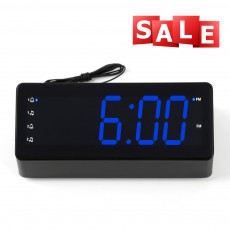 Alarm Clock Radio 1.2 inch LED Display FM Music Sleep Timer Snooze 2 USB Charging Smart Phone Power Supply Clock Radio Speaker