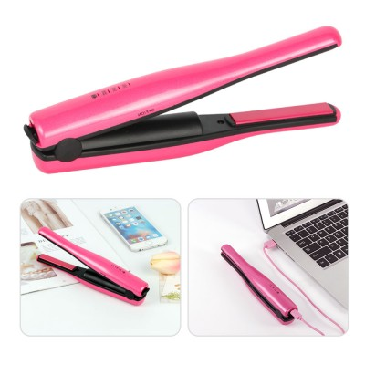 Mini Travel Portable Hair Straightener Curling Iron Cordless USB Charger for Beginner Christmas Gift BLACK FRIDAY SALE