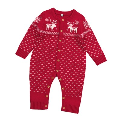 Jumpsuits for Babies and Young Children Knitted Woolen Yarn Coveralls Kids' Wear One-piece Bodysuit