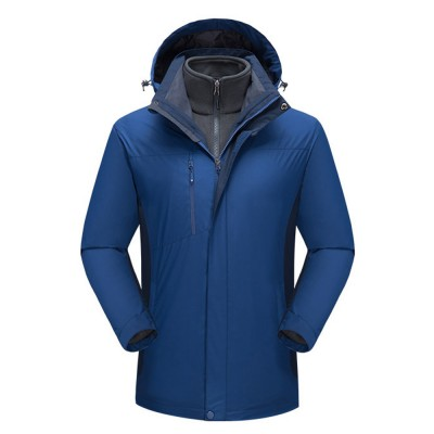 Winter Jacket for Outdoors Climbing Skiing Thickened Thermal Interchange Jacket Three-in-one Two-piece Antiwear Waterproof Outdoor Jacket