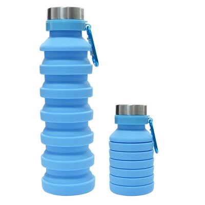 Sports Water Bottle for Outdoors Climbing Travelling Food Grade Silicone Foldable Drinking Bottle Telescopic Water Kettle