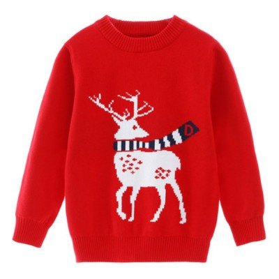 Kids Christmas Knitted Sweater for Boys Girls Christmas Xmas Party Pullover Sweatshirt Hoodies for Winter Spring Thicken Ultra Warm Sweater Shirt