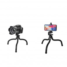 YUNTENG Universal Tripod Selfie Stand for Smartphone and Camera Flexible Travel Tripod Phone Holder with Adjustable Angle for Selfie