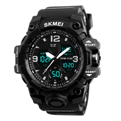 SKMEI Multifunctional Electronic Wristwatch for Men's Outdoor Use Dual Display Noctilucent Wrist Watch Sports Watch
