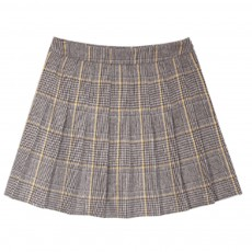 ELFSACK A-type Grid Pleated Skirt New Style Woolen Bust Skirt for Lady Wear Fashionable and Trending A-LINE Skirt Autumn Winter