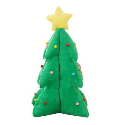 Music Christmas Tree Pillow for Gift Choice Luminous Musical Throw Pillow Stuffed Toy Environment-friendly PP Cotton Bolster