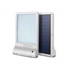 Solar Wall Lamp for Outdoor Use Ultrathin Waterproof Flat Panel Bracket Lamp Human Body Sensing Wall Luminaire
