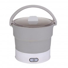 Multifunctional Electric Cooker Caldron for Dormitory Family Use Food Grade Portable Foldable Electric Hot Pot