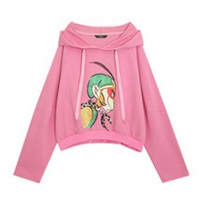 ELFSACK Embroidery Super Hero Hoodie Jacket Fashionable Long Sleeve Coat for Lady Wear Cotton Hoodie Jacket Spring Autumn Winter