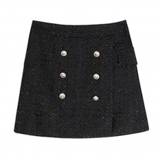Autumn Winter 2019 New Style Tweed Skirt Chanel's Style Bust Skirt for Lady Wear Fashionable and Unique A-line Skirt