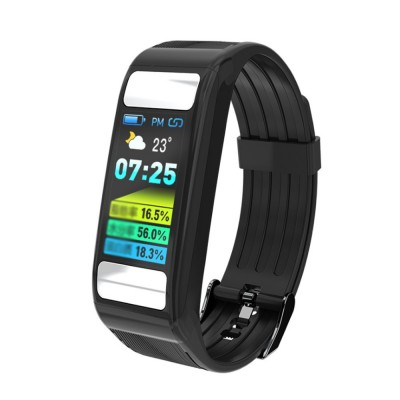 Smart Sports Wristband Bracelet IP67 Fitness Tracker Bracelet for Fat Detecting Blood Pressure Heart Rate Sleeping Quality Monitoring