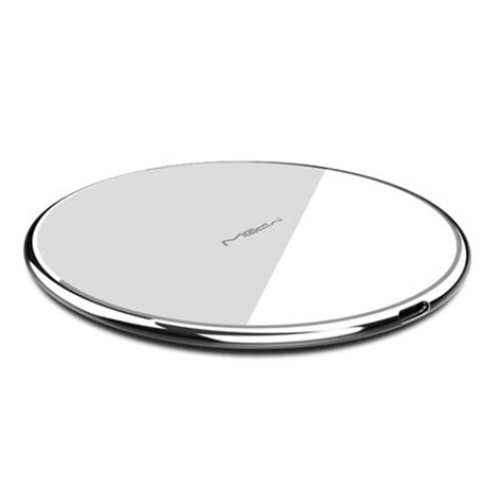 MIPOW Thin Portable Zinc Alloy Tempered Glass Quick Charging Wireless Charger for iPhone Xiaomi Samsung Huawei Nokia