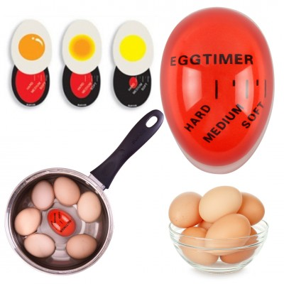 2PCS Smart Egg Timer For Boiling Soft or Hard Boiled Eggs Heat Sensitive Color Changing Eggs Cooking Kitchen Tool Timer BPA Free for Wife Christmas Gift Black Friday SALE