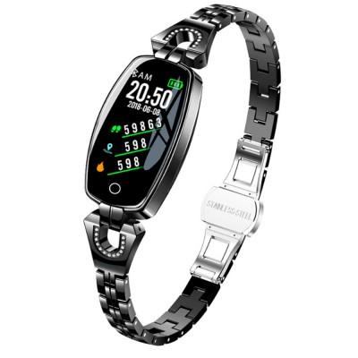 2019 Women Lady Fashion Smart Wristband H8 Heart Rate Blood Pressure Smart Bracelet Fitness Tracker Smart Watch Band Female Girl Gift