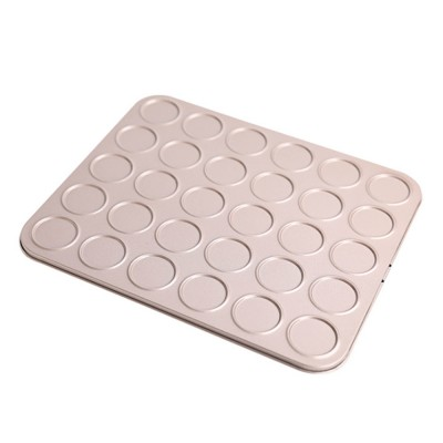 ChefMade Golden Baking Tray Non Stick 30 Mould Light Baking Tray Macaroon Baking Tray