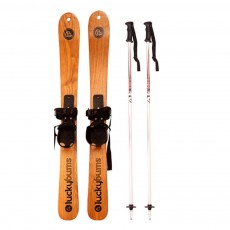Dual Wood Skiing Board for Outdoor Skiing Training Fashionable Skis Pair Ash Tree Wood 110cm Snowboard Outdoor Sleigh