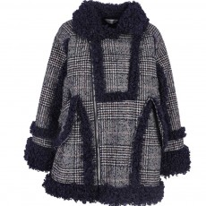 Retro Chic Overcoat Thickened Spliced Lamb Coat for Women Wear Short Cotton Lamb Wool Coat Autumn Winter