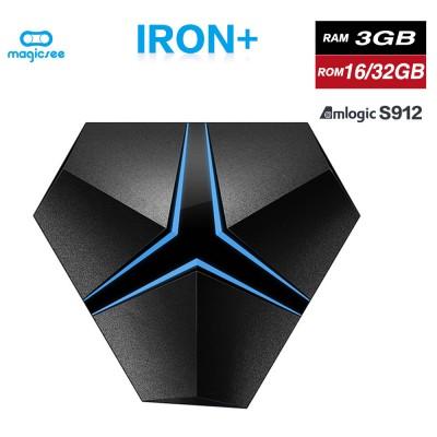 MAGICSEE IRON+ TV BOX Network Player Amlogic S905X TV Box Android 7.1 Bluetooth Set Top Box 3G 32G