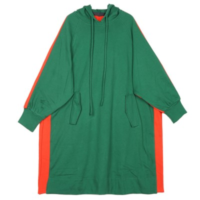 Stitching Color Hoodie Loose Style Hoodie for Women Fashionable Cotton Overcoat Spring Autumn 2019