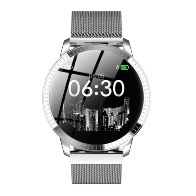 Multifunctional Waterproof Large Round Screen Intelligent Smart Watch with Leather Strap Bluetooth Photographing