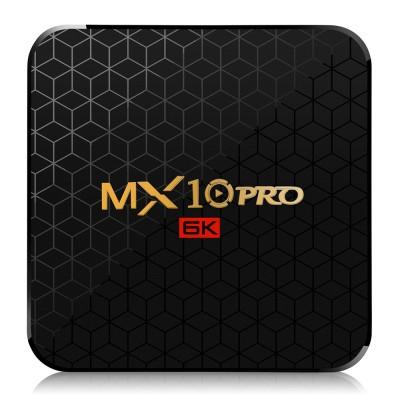 MX10 PRO 4GB 64GB Emmc Android 9.0 TV Box Allwinner H6 6K HDR 2.4GHZ WIFI USB 3.0 Smart IP TV Box Media Player