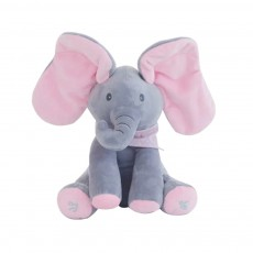 Electric Plush Toy Elephant Children's Gift Hide and Seek Elephant Cover Eyes Elephant Toy Plush Toy