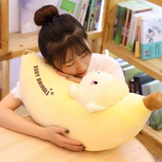 Simulation Banana Plush Toys Creative Transformation Plush Toys Dinosaur Bunny Long Pillow Children's Doll Birthday Gift