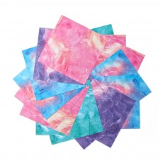 15*15CM Colorful Handmade Folding Paper for Double-side Printed Pattern DIY Paper Easy to Use