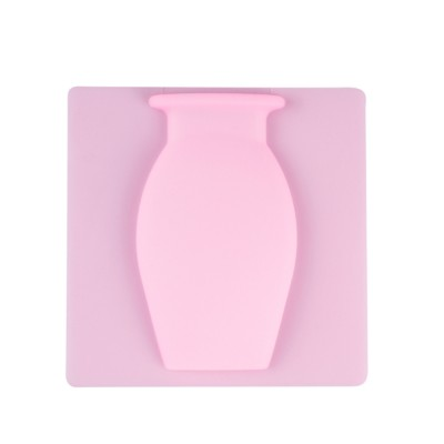 Magic Silicone Vase for Family Use Office Decoration Nail Free Wall Mounted Vase Strong Adsorption Rubber Vase