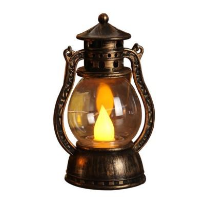 Vintage Stylish Decoration Lantern LED Light with Imitation Wick Creative Bar Courtyard Lamp New Year Ornament