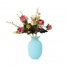 Magic Silicone Flower Vase Wall-Mounted Sticky Vase Pot Strong Adhesion and No Drilling Required for Refrigerator Living Room