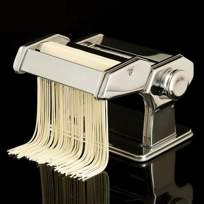 Household Noodle Pressing Machine Stainless Steel Noodle Cutting Machine with 7-Level Thickness Adjustment